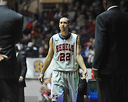 "Ole Miss' Marshall Henderson (22) reacts to his third foul vs. Georgia at the C.M. ""Tad"" Smith Coliseum on Saturday, February 16, 2013. Mississippi won 84-74 in overtime. (AP Photo/Oxford Eagle, Bruce Newman)"