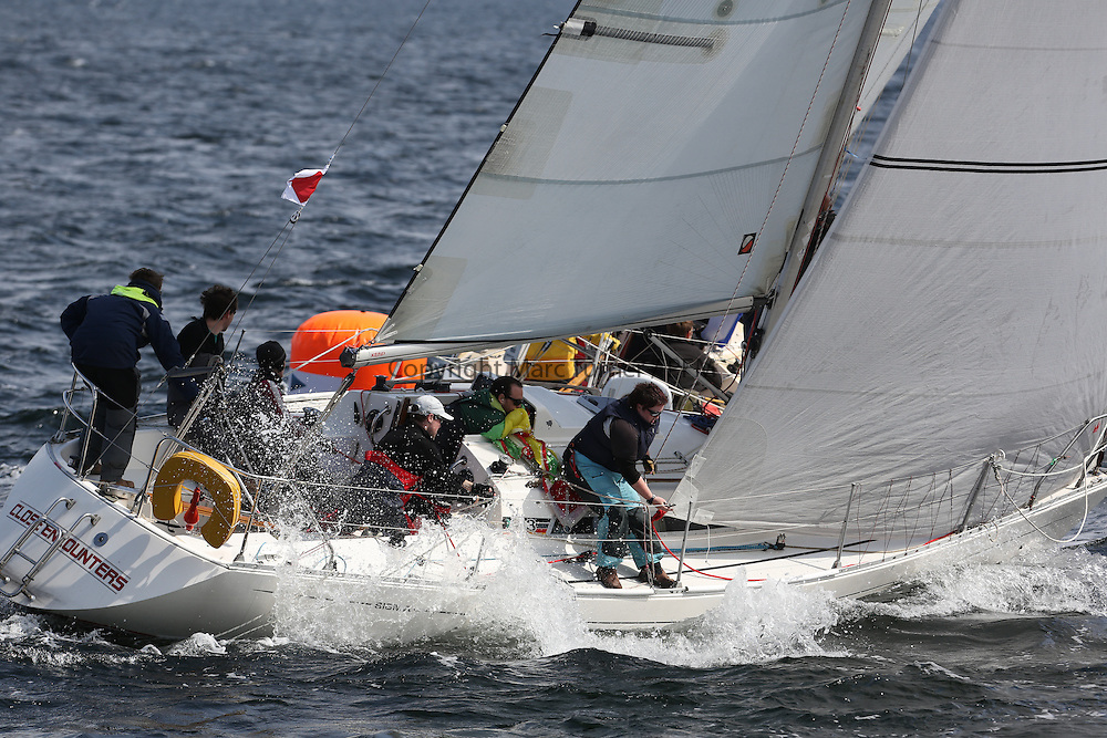 The Silvers Marine Scottish Series 2014, organised by the  Clyde Cruising Club,  celebrates it's 40th anniversary.<br /> Day 2, IRL584, Close Encounters, Griogair Whyte, RNCYC<br /> Racing on Loch Fyne from 23rd-26th May 2014<br /> <br /> Credit : Marc Turner / PFM