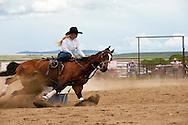 Barrel Racing, rodeo, Wilsall, Montana.