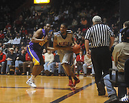 "Ole Miss forward Steadman Short (15)  defended by Louisiana State's Storm Warren (24) at the C.M. ""Tad"" Smith Coliseum in Oxford, Miss. on Wednesday, February 9, 2011. Ole Miss won 66-60 and is now 4-5 in the Southeastern Conference."