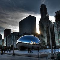 The Cloud Gate sculpture Chicago Millenium Park