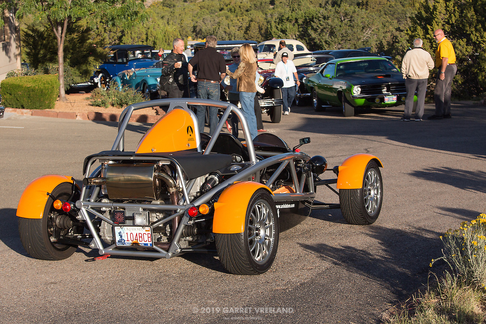 2006 Ariel Atom 1 pulls into the parking lot at Arroyo Vino for the 2012 Santa Fe Concorso High Mountain Tour.