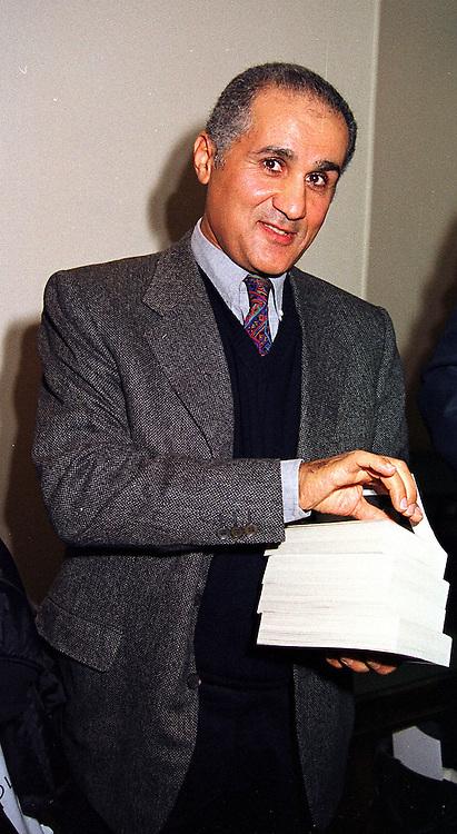 MR AMR KHASHOGGI brother of middle eastern businessman Adnan Khashoggi, at a party in London on 14th March 2000.OCB 48