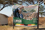 Robert Mugabe propaganda on the highway between Harare city centre and Chitungwiza ahead of the run election off tomorrow, 27th June 2008.