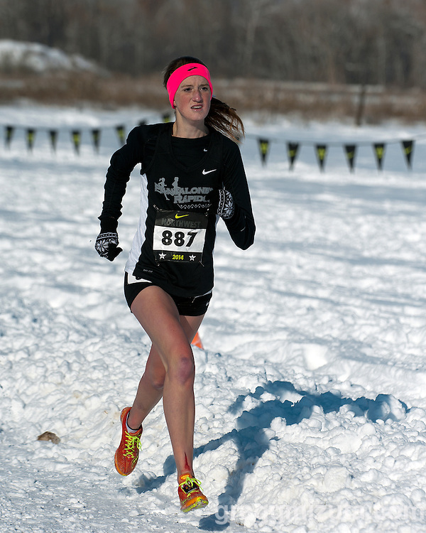 Josie Brown, NXN Northwest girls championship race, November 15, 2014 at Eagle Island State Park, Eagle, Idaho.
