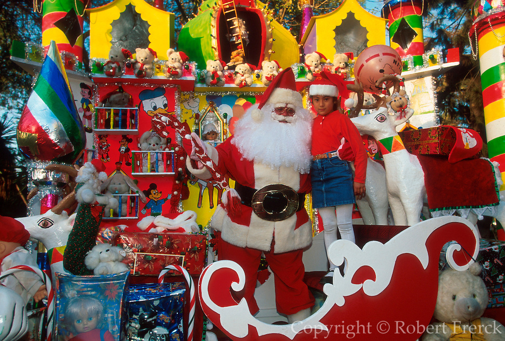 MEXICO, CHRISTMAS children photographed with Santa