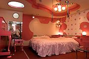 ADONIS Love Hotel in Osaka Ikutamateramachi area. Hello Kitty SM room