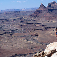 Marshall Balick hikes near Mexican Mountain and the old Horse Thief Trail used by Butch Cassidy and the Sundance Kid in the San Rafael Swell, Utah.