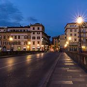 Twilight; Firenze; Florence; Italy; Ponte Vespucci
