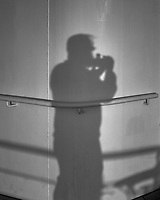 Shadow photographer selfie at sunrise. Semester at Sea, 2016 Spring Semester Voyage. Day 3 of 102. Image taken with a Leica T camera and 23 mm f/2 lens (ISO 100, 23 mm, f/5.6, 1/800 sec).