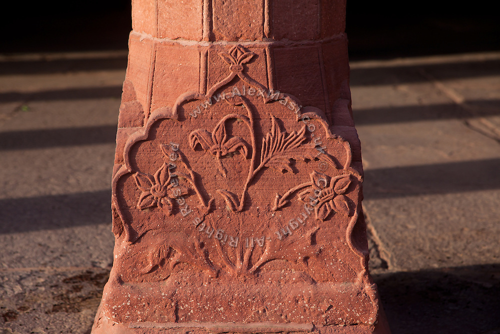A number of damaged parts, sloppy restoration work, stone decay and other oddities can be seen all around the Taj Mahal complex, on both red sandstone and Markana marble.