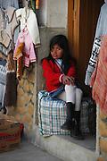 Girl in the market in Tarabuco, Chuquisaca, Bolivia