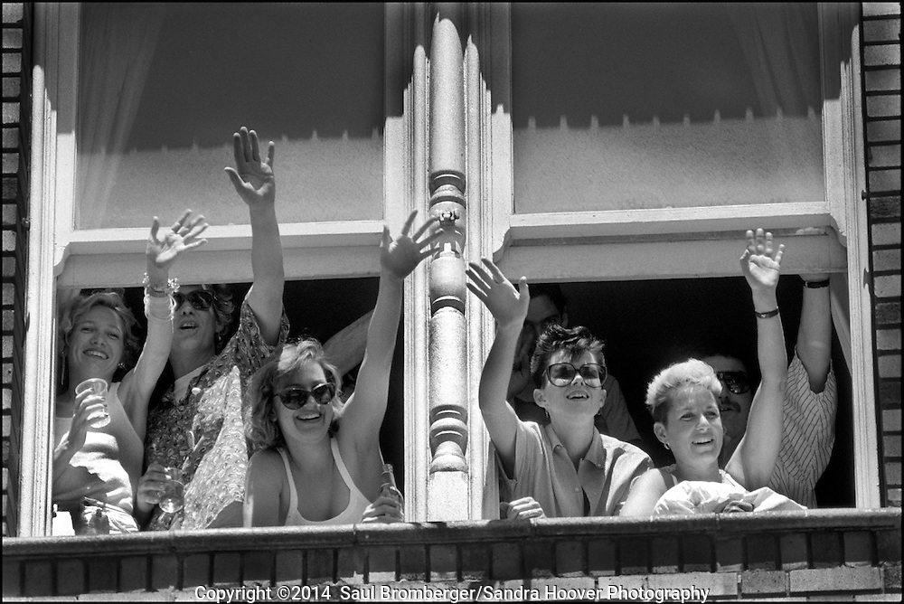 'The San Francisco Gay &amp; Lesbian Freedom Day Parade: 1984-1990'<br /> <br /> We photographed the &lsquo;San Francisco Gay Parade&rsquo; from 1984&ndash;1990, and recognized that given our skills and interests in telling a story thru a documentary photo essay, we could and should document the gay community fighting for its civil rights, for equality, for understanding and awareness, and for coming together as a community - and this became our project's focus.<br /> <br /> We were after three objectives -- to create a photo essay that would capture the love and commitment that we observed again and again by couples and by the community organizations; to create a moving and heartfelt portrait of the gay community through this annual parade; and to create a historical archive of what it was like when gays and lesbians had the courage to march peacefully on Market Street and in the Castro District, demanding their equal rights.