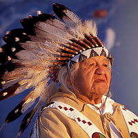 Chief Delvis Heath Jr., Warm Springs tribe, Warm Springs Indian Reservation, Oregon, USA