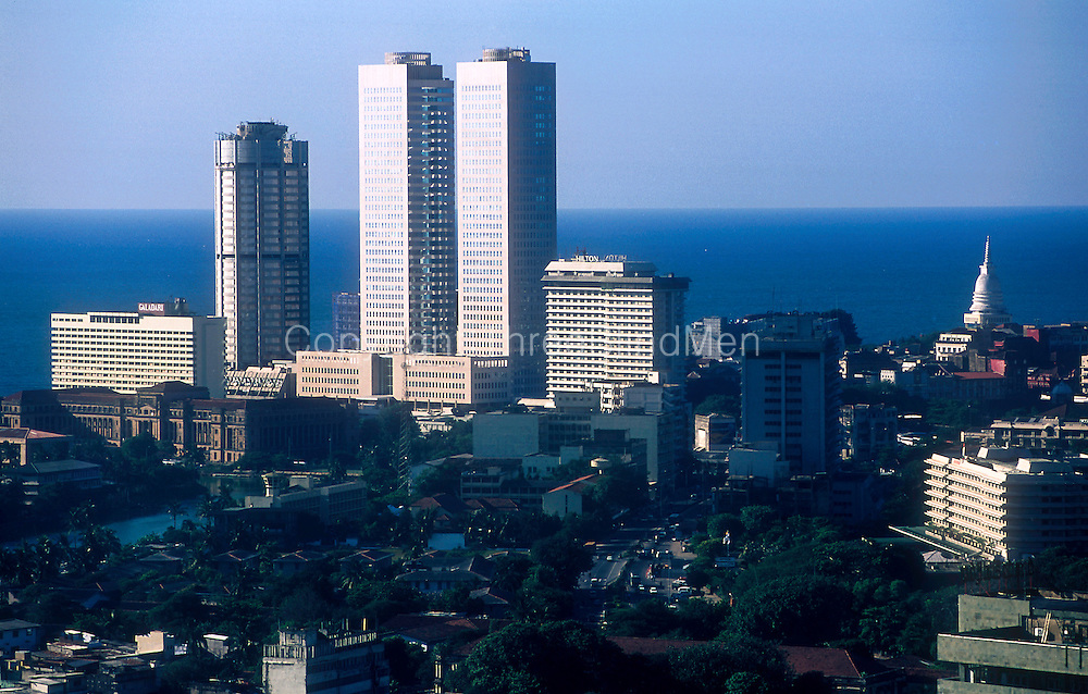 Colombo Skyline. World Trade Centre, Bank of Ceylon and Hilton Hotel.