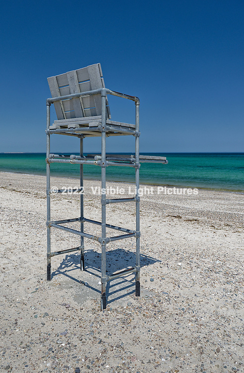 Lifeguard Tower on a beach in Sandwich, Cape Cod, Massachusetts