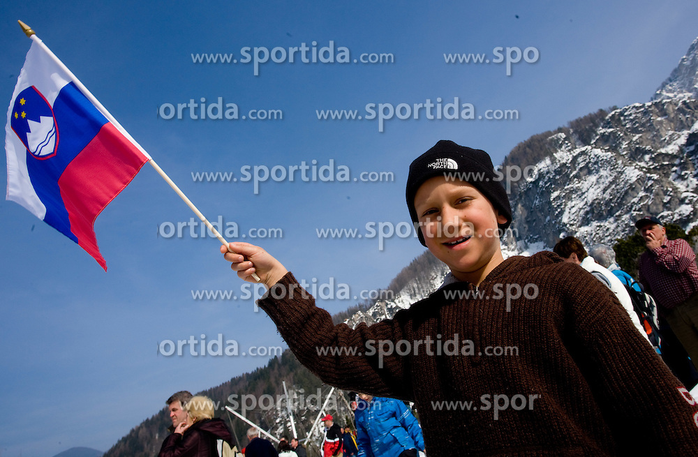 Slovenian young Fan during Flying Hill Individual First Round at 2nd day of FIS Ski Flying World Championships Planica 2010, on March 19, 2010, Planica, Slovenia.  (Photo by Vid Ponikvar / Sportida)