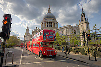 London Routemaster bus in London England in April 2011 by Christopher Holt