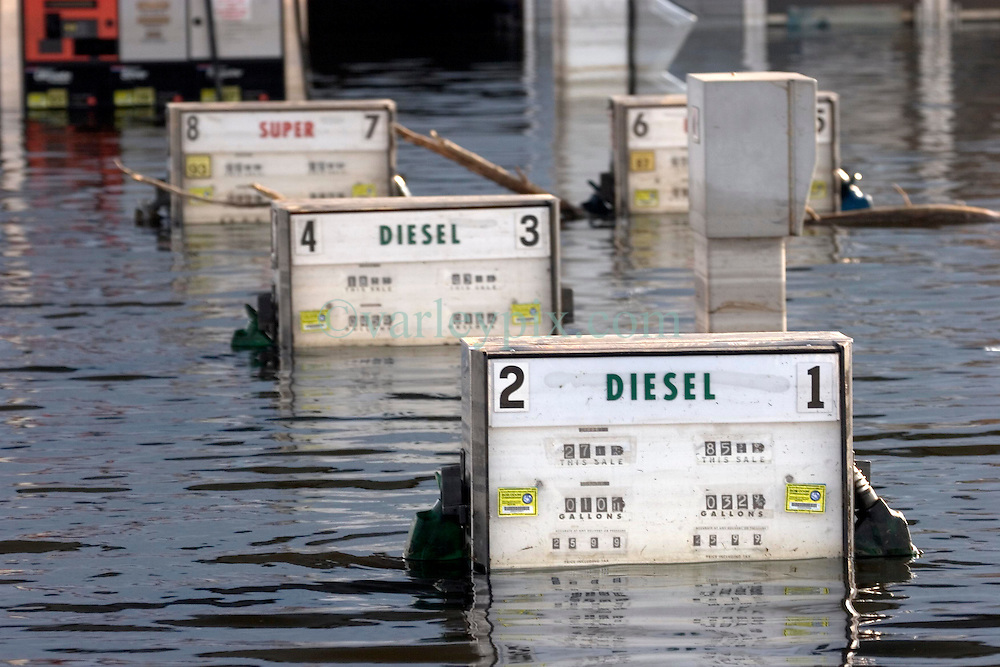 05 Sept  2005. New Orleans, Louisiana. Post hurricane Katrina.<br /> Murky water in Uptown New Orleans. Chemical pollution spills into the water.<br /> Photo; &copy;Charlie Varley/varleypix.com