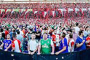 ROTTERDAM - Feyenoord - FC Utrecht , Voetbal , Seizoen 2015/2016 , Eredivisie , Stadion de Kuip , 08-08-2015 , Supporters hebben zin in de competitie