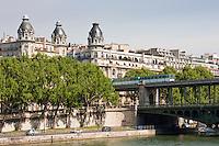 pont de bir hakeim in Paris France in Spring time of May 2008