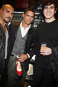 Vincient Pegrezia, Shane Ward and Carl Greshon at 'Spring on Mulberry Block Party'  celebration for Shane and Shawn Shoes sponsored by Bombay Sapphire and held at The Shane & Shawn Store in New York City on May 7, 2009