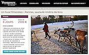 Voyageurs du Monde. <br /> Photo: Inari, Lapland.