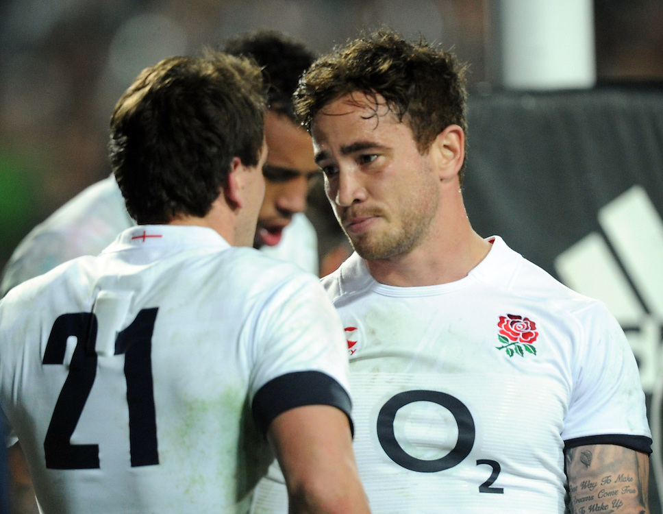 England's Danny Cipriani, right, with ee Dickson as the team lost to New Zealand in the third International Rugby Test at Waikato Stadium, Hamilton, New Zealand, Saturday, June 21, 2014.Credit:SNPA / Ross Setford