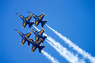 Blue Angels flyby during 2006 Fleet Week performance in San Francisco