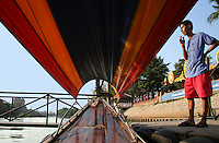 Thai Longtail Boat, Ayuthya - A fun and popular way to get around all the temples and sights of Ayutthaya is on a longtail boat along the moat which encircles the island and the old city.  Evening dinner cruises also offer picturesque views of the temples lit up at night.