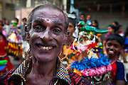 Portrait of a Kavadi Dancer. Festival at small Hindu temple off Jampettah Street.