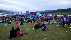 The view towards the main stage..Saturday at Rockness 2012..©Michael Schofield..