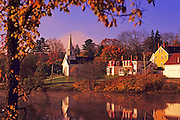 Image of a pastoral fall scene near Rockport, Maine, American Northeast