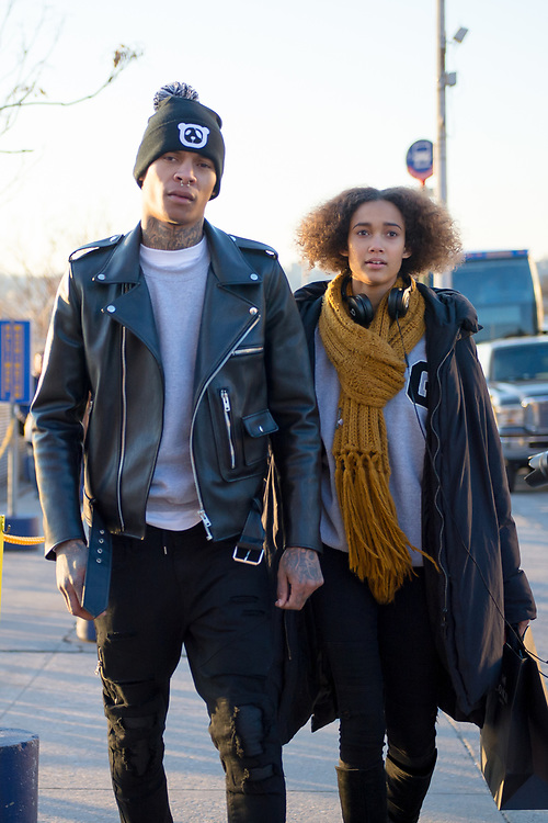 Deion D. Smith and Wallette Watson at Coach FW2017