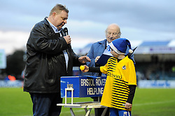 A young Bristol Rovers fan draws out numbers for the Bristol Rovers helpline draw - Mandatory byline: Dougie Allward/JMP - 07966 386802 - 02/01/2016 - FOOTBALL - Memorial Stadium - Bristol, England - Bristol Rovers v Luton Town - Sky Bet League Two