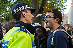 2015-05-09 Police and protesters in stand-off during anti-Tory protest in Whitehall