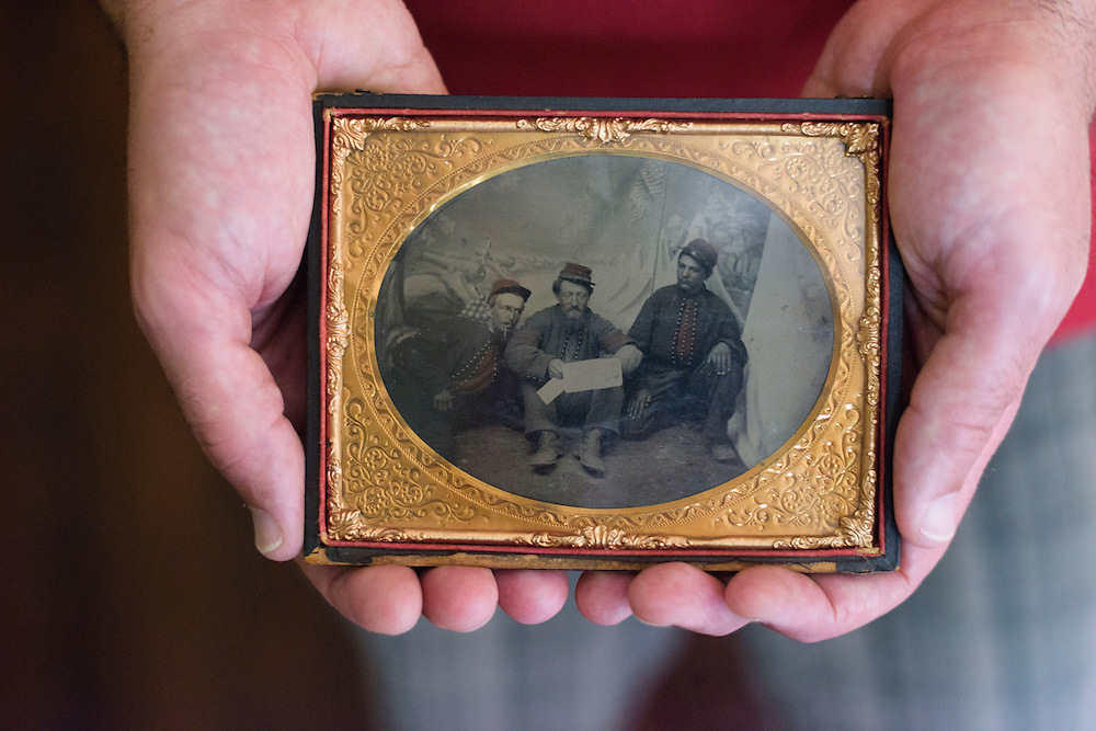 Baltimore, Maryland - August 02, 2014: Paul Russinoff has an extensive collection of Civil War era photographs in his house in Baltimore.