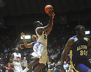 "Ole Miss guard Nick Williams (20) shoots at the C.M. ""Tad"" Smith Coliseum in Oxford, Miss. on Thursday, December 29, 2010. Ole Miss won 100-62. (AP Photo/Oxford Eagle, Bruce Newman)"