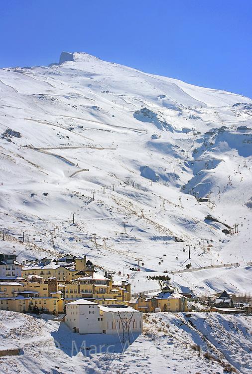 A ski resort in the Sierra Nevada mountains, Granada, Spain