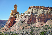 Chimney Rock at the Ghost Ranch, Abiquiu, New Mexico.