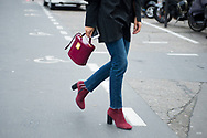 Burgundy Bag and Boots, Outside Ellery FW2017