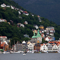 Europe, Norway, Bergen. Bergen Harbour.