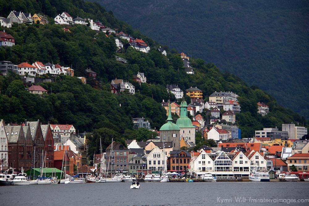 Europe, Norway, Bergen. Bergen Harbour.