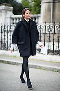 Oversize Black Coat, Outside Dries Van Noten