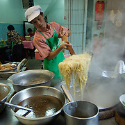 A famous noodle shop in Chinatown, Bangkok.