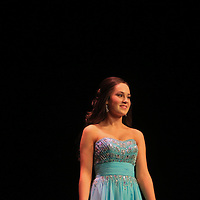 Kristen Wheeler competes in the evening gown portion during the 66th North Carolina Azalea Festival Scholarship Pageant at Saturday March 8, 2014 at Kenan Auditorium in Wilmington, N.C. (Jason A. Frizzelle)
