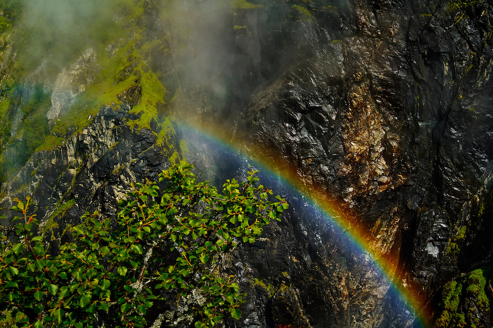 A rainbow at Vøringsfossen, Hardangervidda, Norway.