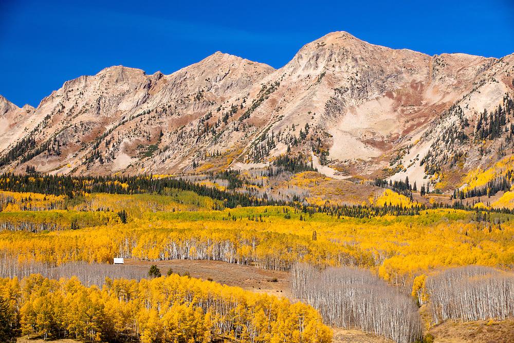 The Anthracite Range in autumn. Ohio Pass road near Gunnison, Colorado.