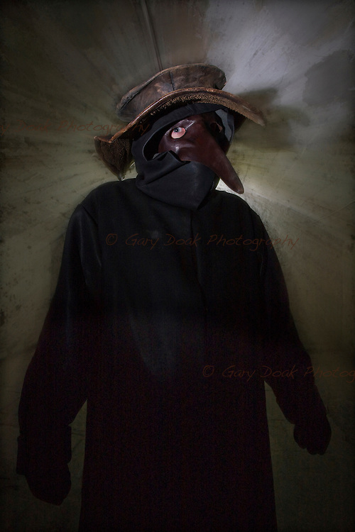 The Plague Doctor. A character study for The Real Mary King's Close, Edinburgh.