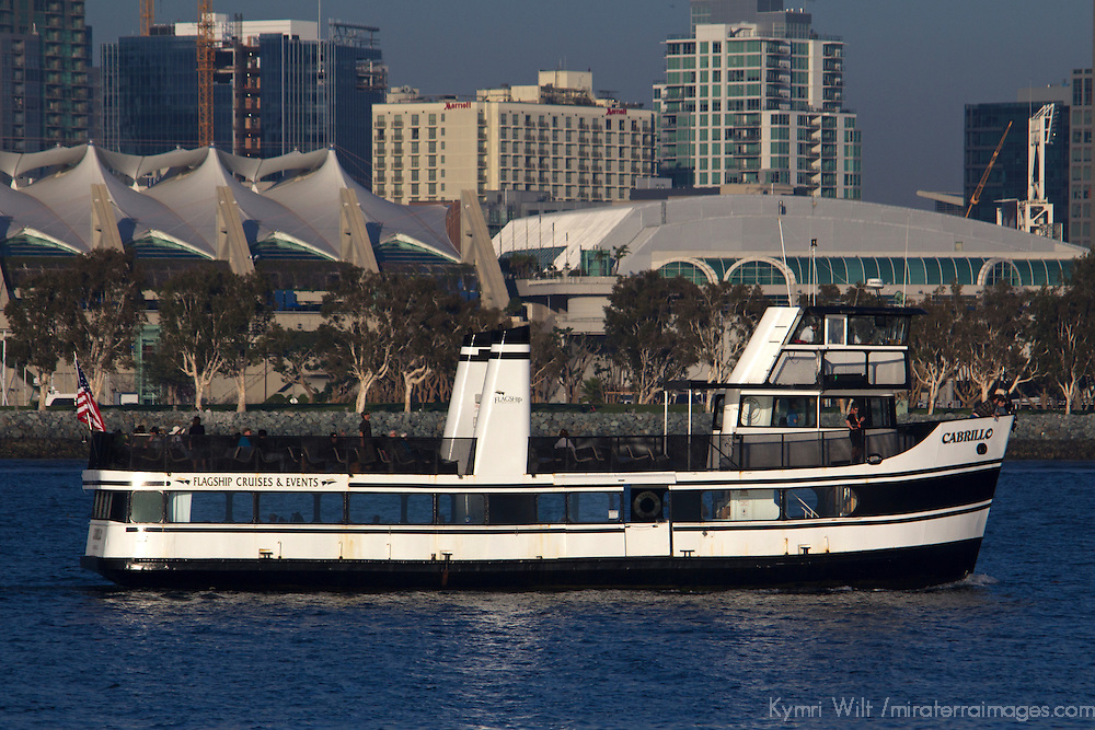 USA, California, San Diego. The San Diego Coronado Passenger Ferry and Convention Center.